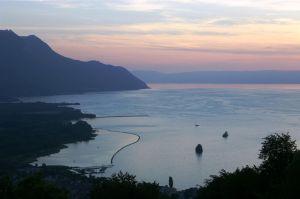 Lake Geneva at night